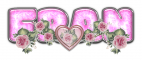 PINK DUSTY ROSE HEART FRAN