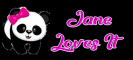 Cute girl Panda - Jane