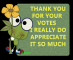 Froggie says Thank You