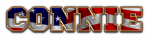 SPORTS WORLD DEFONT FLAG AMERICAN CONNIE TEXT