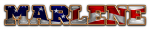 SPORTS WORLD DEFONT FLAG AMERICAN MARLENE TEXT