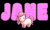 Polka dot name with pink pony
