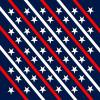 Red, white and blue star background