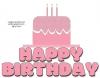 HAPPY BIRTHDAY, CAKE, TEXT, SEASONAL