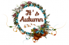 it's Autumn,  Designs, Seasonal! , Fall, Text