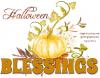 Halloween Blessings, PUMPKIN, TEXT, HOLIDAYS