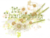 It's Thanksgiving, HOLIDAYS, FLOWERS, DESIGNS, TEXT