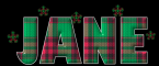 Plaid name with snowflakes - Jane