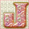 Pink Bubbles - Letter J