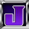 Purple Plastic Sticker - letter J