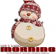 HAVE A BLESSED MORNING, SNOWMAN, GREETINGS, TEXT