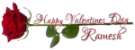 HAPPY VALENTINES DAY.. RAMESH, ROSE, HOLIDAYS, TEXT