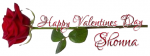 HAPPY VALENTINES DAY.. SHONNA, HOLIDAYS, ROSE, TEXT