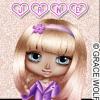 Cute girl Sticker - Jane