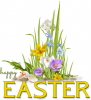Happy Easter, FLOWERS, SEASONAL, HOLIDAYS, TEXT