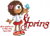 SPRING, TOON, GIRL, SEASONAL, TEXT