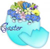 EASTER, EGG, FLOWERS, HOLIDAYS, TEXT
