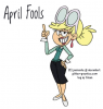 APRIL FOOLS, CARTOONS, GIRL, HOLIDAYS, TEXT