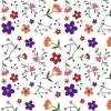 BACKGROUND WHITE ITH LOTS OF FLOWERS