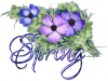SPRING, FLOWERS, SEASONAL, TEXT