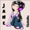 Girl with headphones - Sticker - Jane