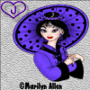 Lady with purple parasol - J