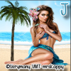 Beautiful woman on beach - J