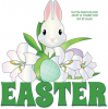 EASTER, BUNNY, CARTOON, HOLIDAYS, TEXT