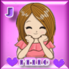 GIRL SMILING STICKER - J