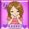 GIRL SMILING STICKER - J