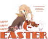 HAPPY.. HAPPY.. HAPPY EASTER, ANIME, HOLIDAYS, TEXT