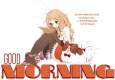 GOOD MORNING, ANIME, CUTE, TEXT