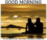 GOOD MORNING, BEACH, COUPLE, SUNRISE, TEXT