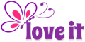 Love it, BUTTERFLY, PURPLE, TEXT
