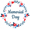 Memorial Day, WREATH, PATRIOTIC, TEXT