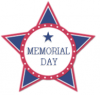 Memorial Day, STAR, PATRIOTIC, TEXT