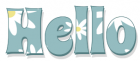HELLO, TURQUOISE, DAISIES, TEXT, GREETINGS