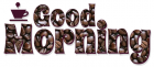 GOOD MORNING, BROWN, COFFEE BEANS, TEXT