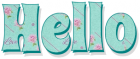 Hello, PASTEL GREEN, ROSE, TEXT
