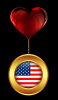 DANGLY FLAG MEDAL FROM HEART