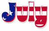 JULY, FLAG, 4TH OF JULY, HOLIDAYS, TEXT