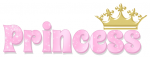 PRINCESS, PINK, SPARKLY, TEXT, CROWN