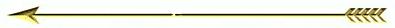 Gold arrow divider