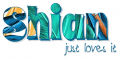 Shian just loves it, TURQUOISE, TROPICAL, TEXT