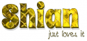 Shian just loves it,YELLOW, PATTERNED, TEXT