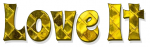 Love it, YELLOW, PATTERNED, DIAMOND, TEXT