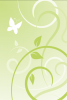 Background with vines & butterfly on light green