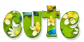 Cute, GREEN, FLOWERS, BIRDS, TEXT
