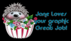 Hedgehog - Jane loves your graphic