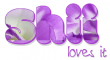 SHII LOVES IT, LAVENDER, FLOWERS, TEXT